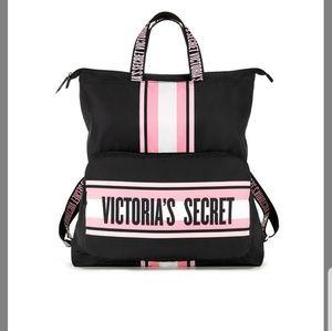 Victoria secret pink logo fold & backpack